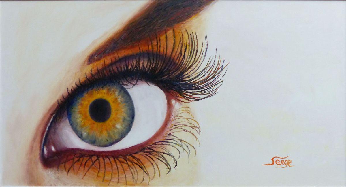 Peinture Dans L Oeil l'oeil tournesol - peinture de serge boisse
