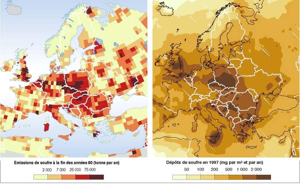 pollution par le soufre en europe