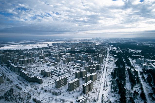 La ville morte de Pripiat, pres de Chernobyl